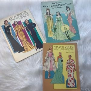 Paper doll book collection